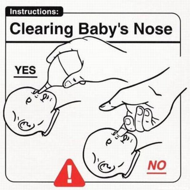 I found some great  baby-rearing instructions . Some of them even make sense! (via Caroline Chen)
