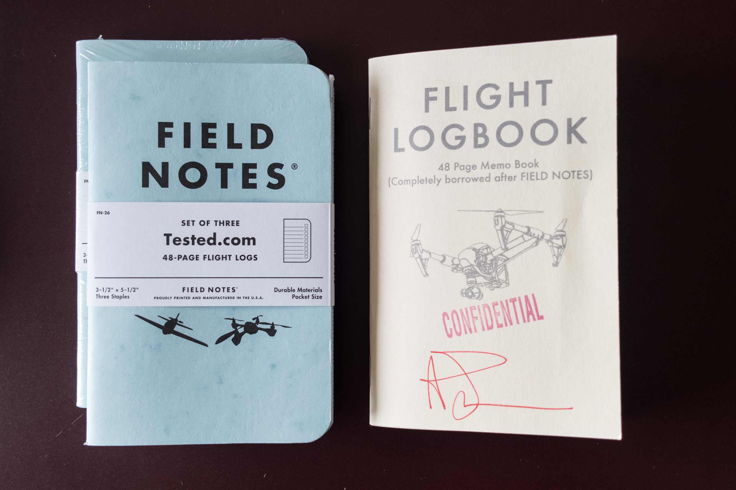 Adam Savage and Tested.com UAS Flight Logbook by Field Notes