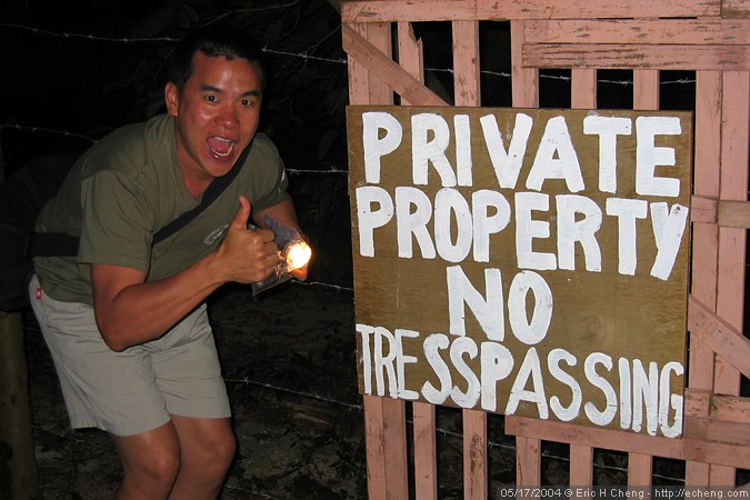 Those guys at the Bamboo Beach Resort take their privacy seriously! (photo: James Wiseman)