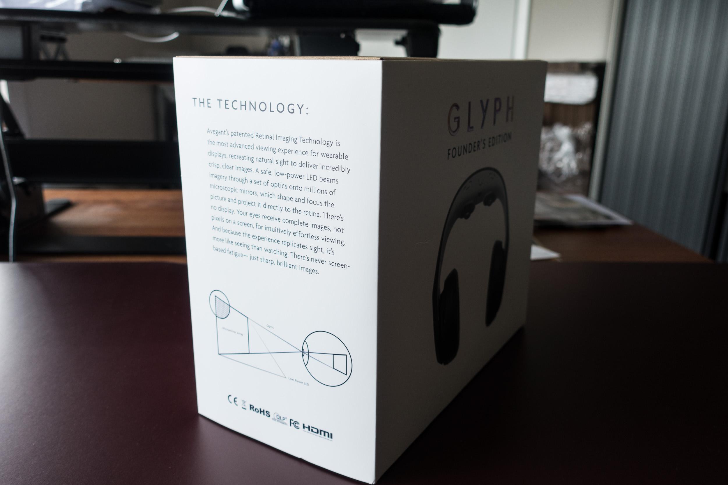 Avegant Glyph Founder's Edition retail box