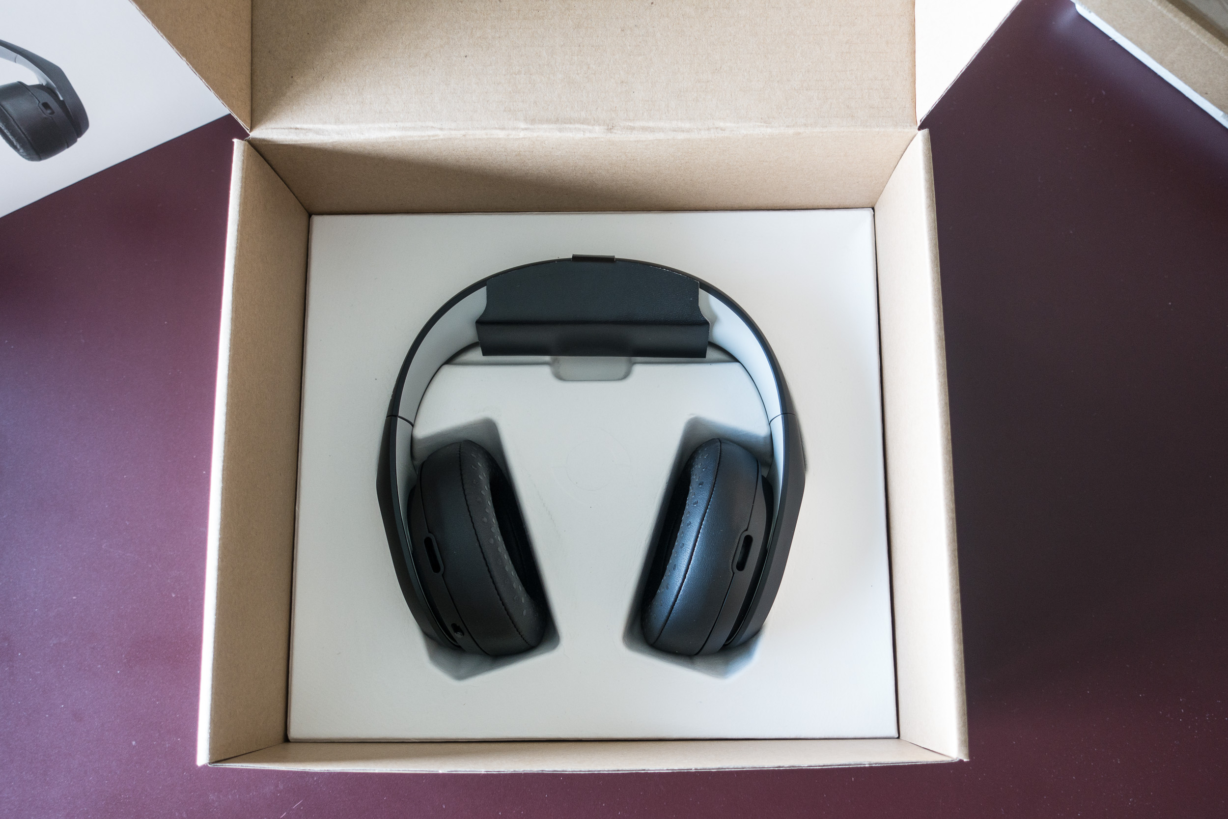 Avegant Glyph Founder's Edition, lower layer features protected headset. All packaging looks to be recyclable.