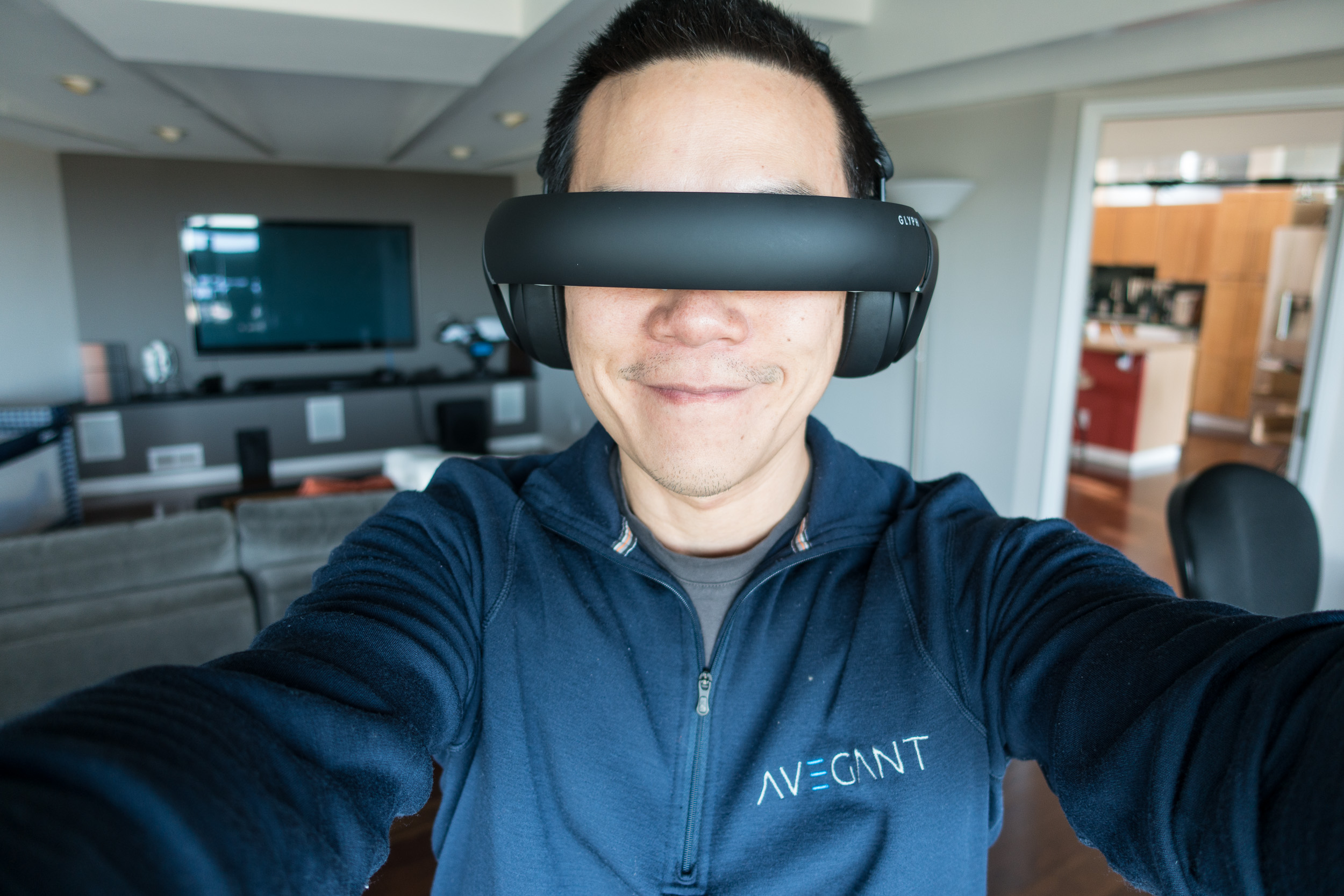 Me, with Glyph. Avegant Glyph Founder's Edition