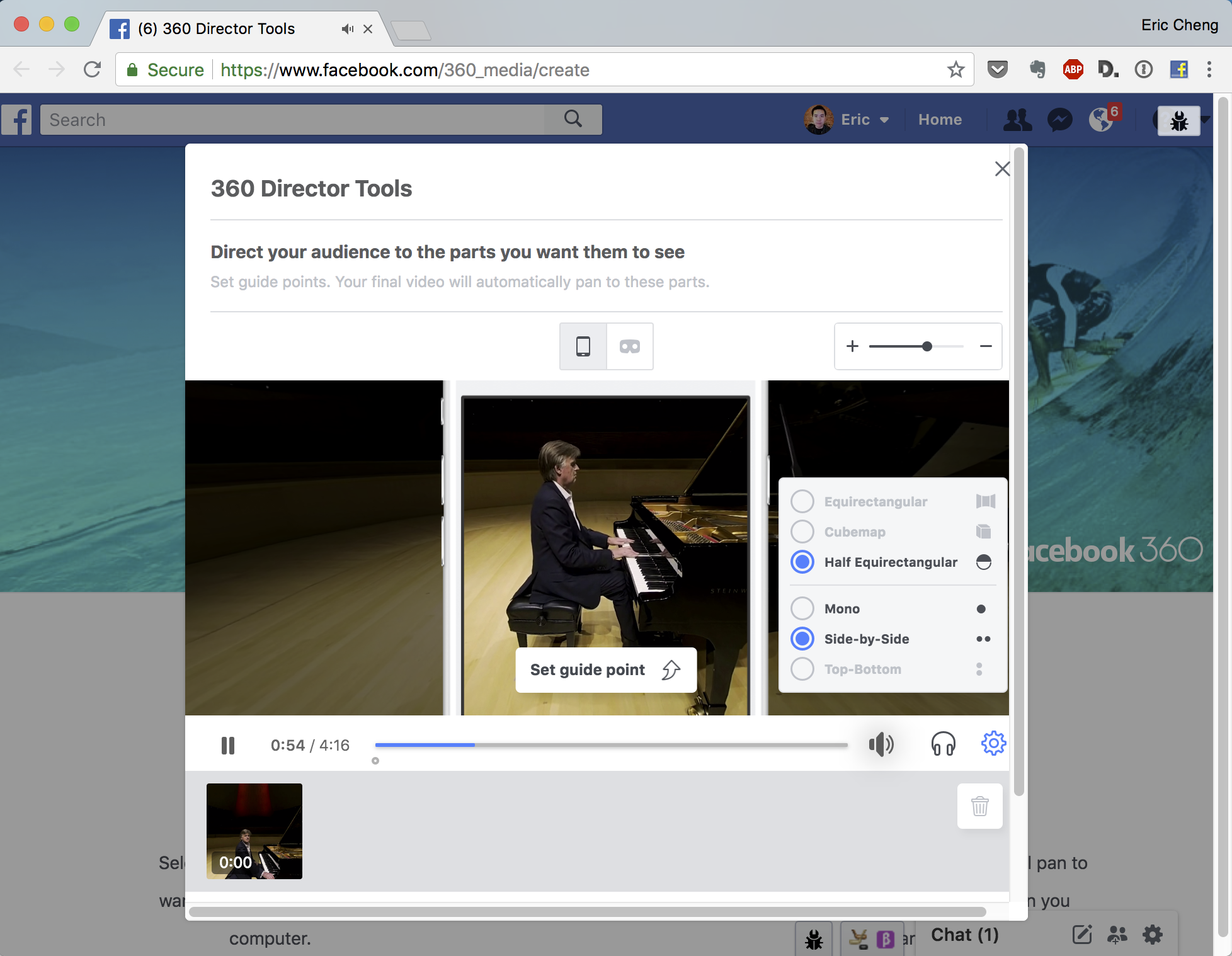 How to upload 3D-180 VR video to Facebook » Eric Cheng