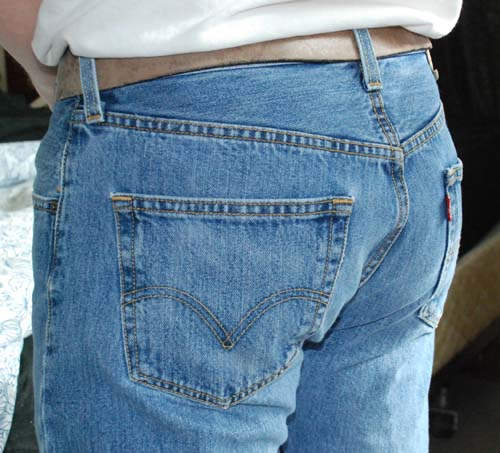 """After:A photo of my Levi's taken in March 2015, shortly before the """"Epic Crotch Blowout."""""""