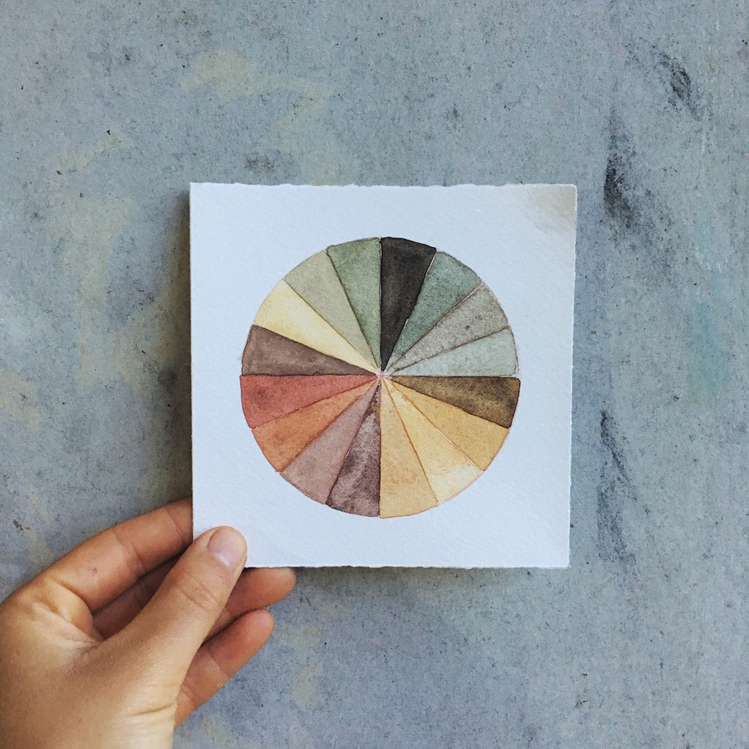 Palette of the colors I made