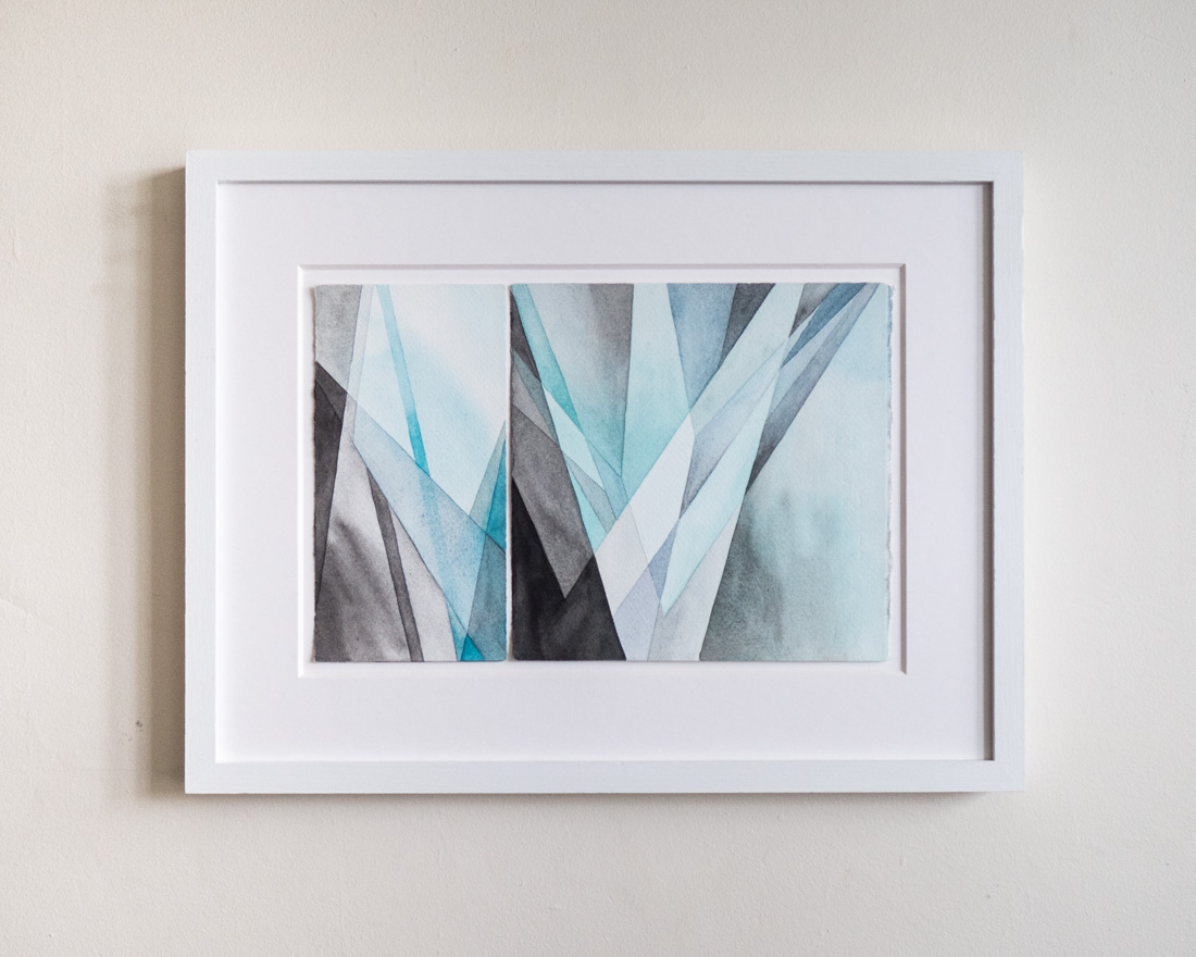 """A Crack in the Sky, 13.5"""" x 17.5"""" framed - $500"""