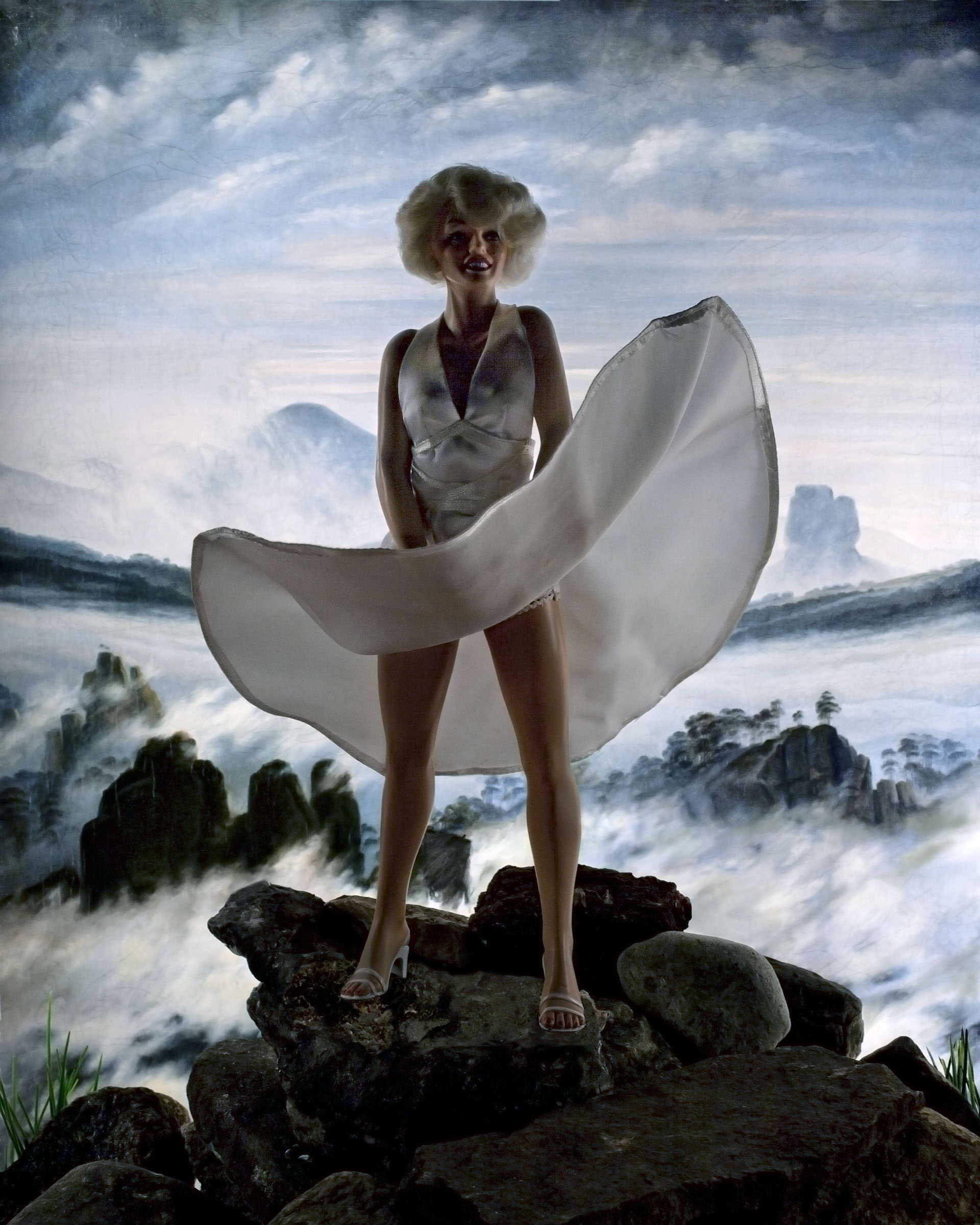 Wanderer above a Sea of Ice (Marilyn), C print, 2012. Image courtesy of Diana Thorneycroft.
