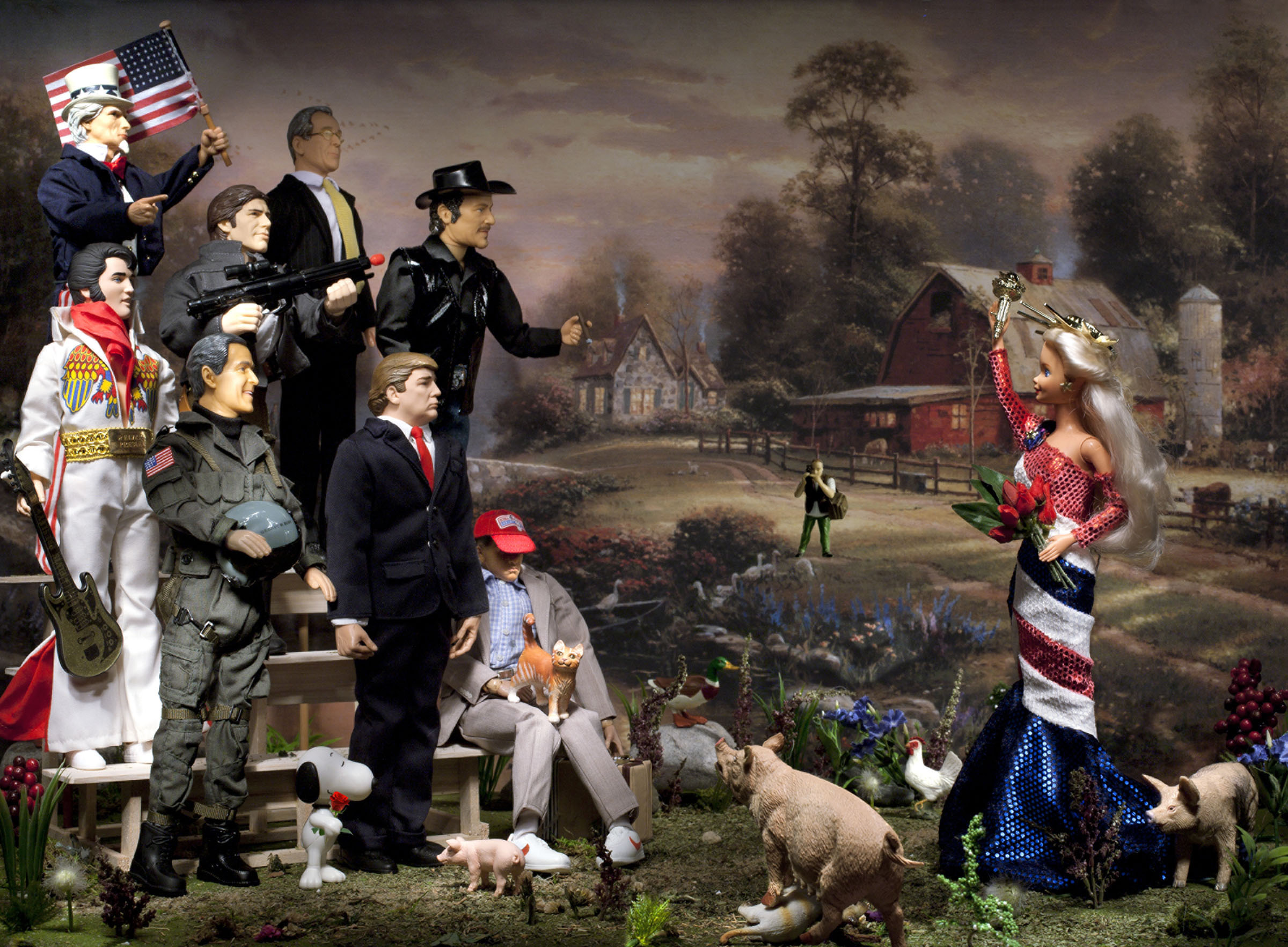 American Bachelorette (at Riverbend Farm), C print, 2013. Image Courtesy of Diana Thorneycroft.