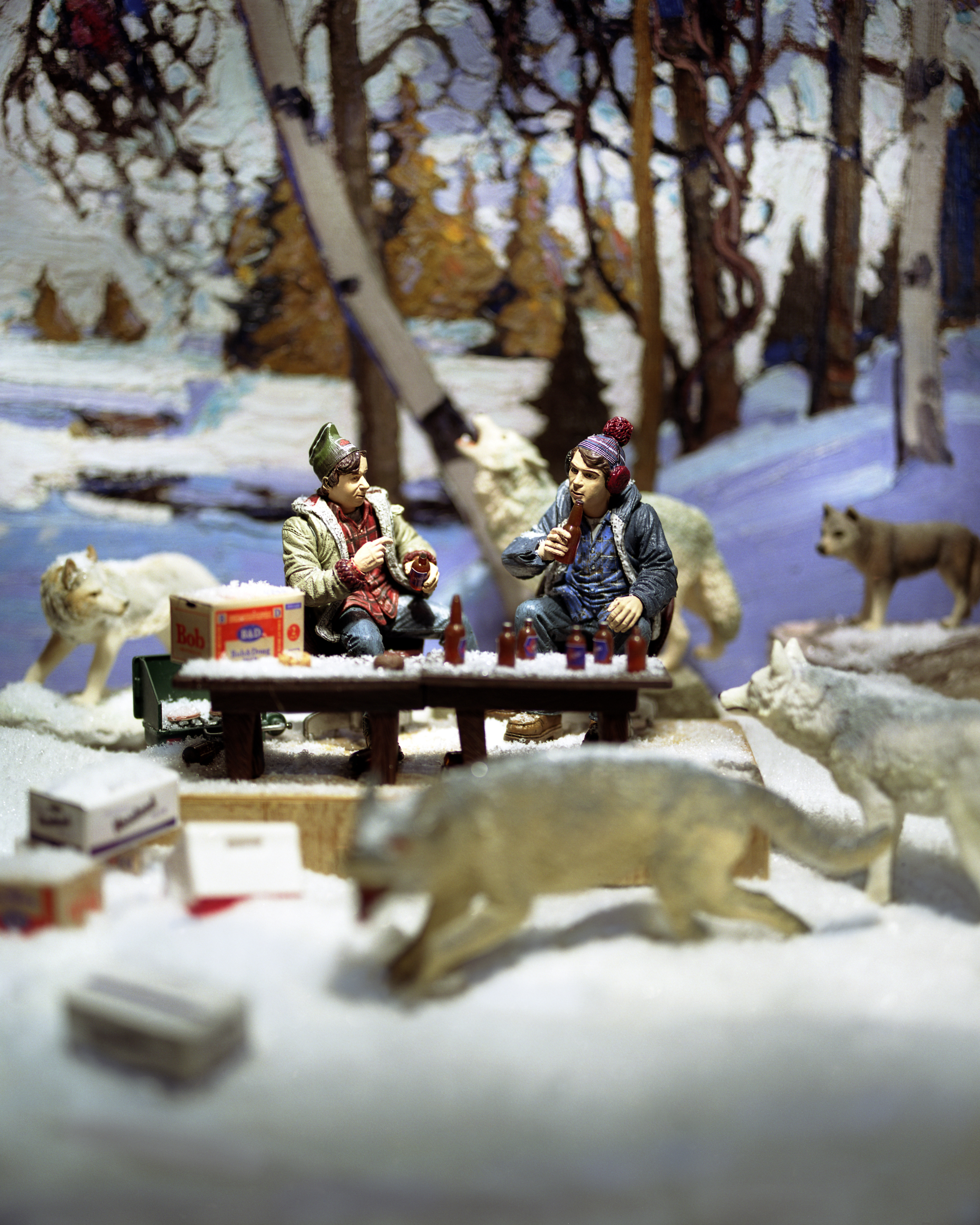Group of Seven Awkward Moments (Early Snow with Bob and Doug), digital photograph, 2009. Image courtesy of Diana Thorneycroft.