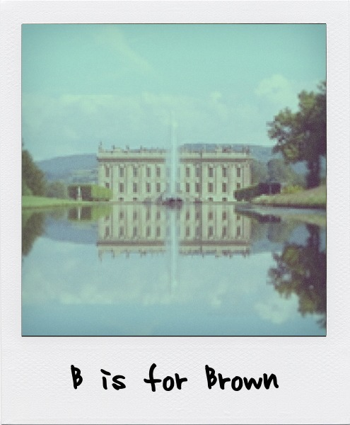 "B is for Capability Brown, the ""Shakespeare"" of English landscape architecture. B is also for Trish Brown and Joseph Beuys."