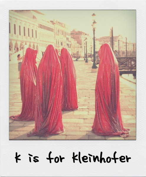 K is for Manfred Kleinhofer, the Austrian artist who is known for his eerie, ambiguous public sculptural installations.