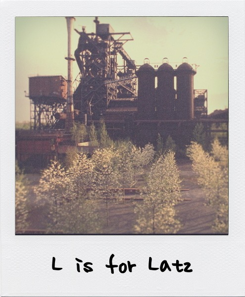 L is for Peter Latz, the German landscape architect known for his focus on the reclamation of industrial sites. L is also for Richard Long.