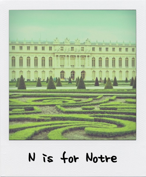 N is for André Le Nôtre, the French landscape architect who designed the park at the Palace of Versailles, Louis the XIV's principal garden designer, and the epitome of the French formal style.