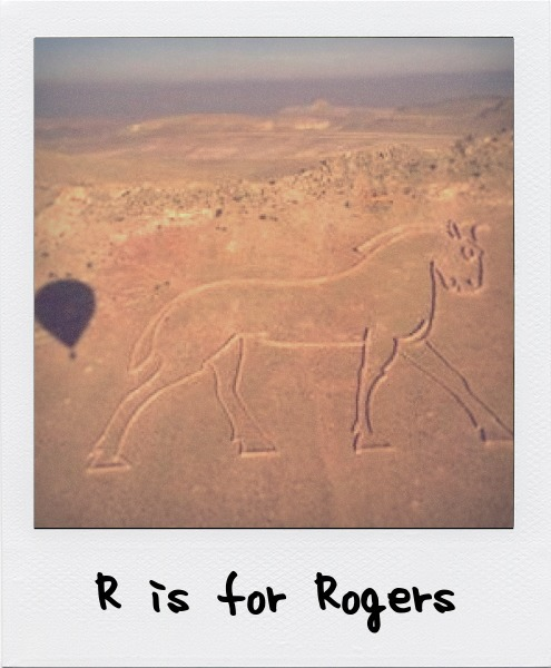 R is for Andrew Rogers, the Australian artist who creates large form line drawings which can be seen from an aerial view.