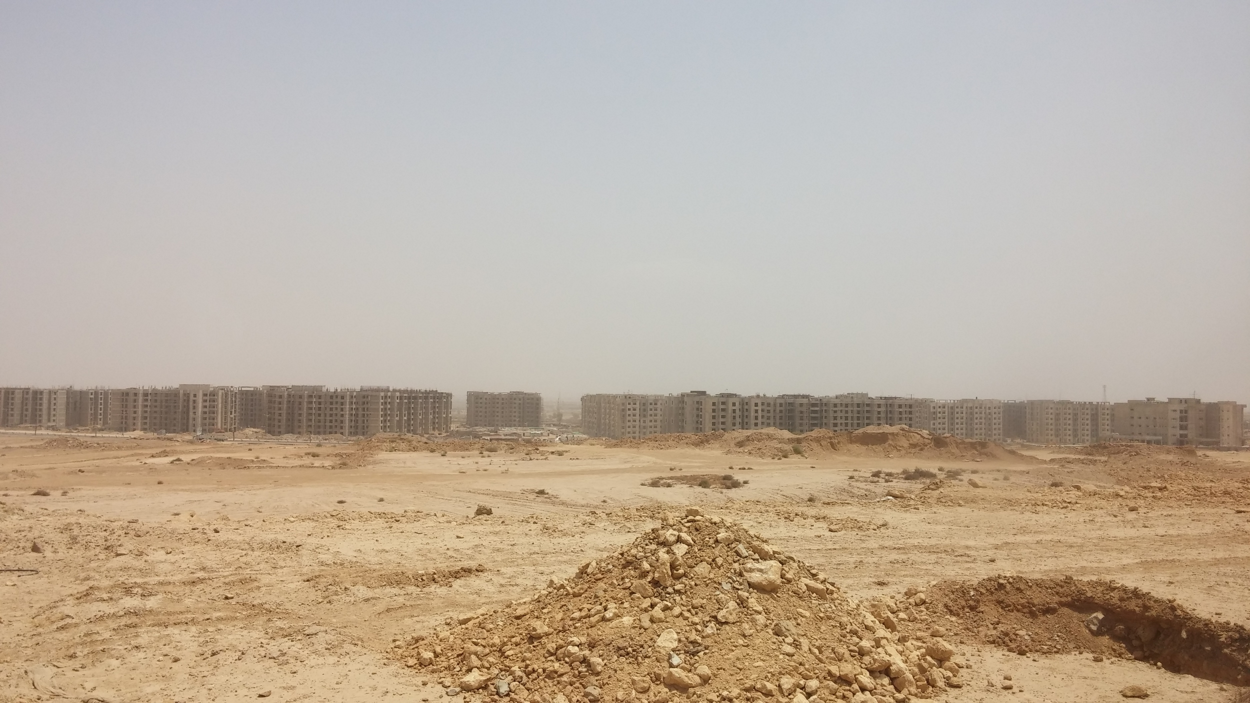 A view of Bahria Town's apartment complexes under construction. Image courtesy Basil Andrews.