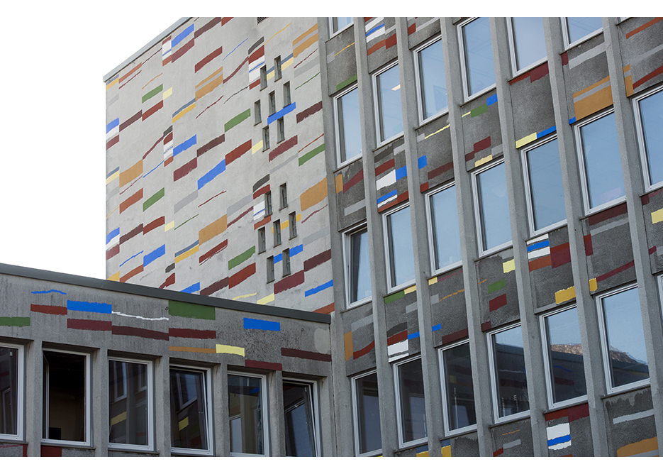 Kunstnerisk utsmykking fasader bygg B