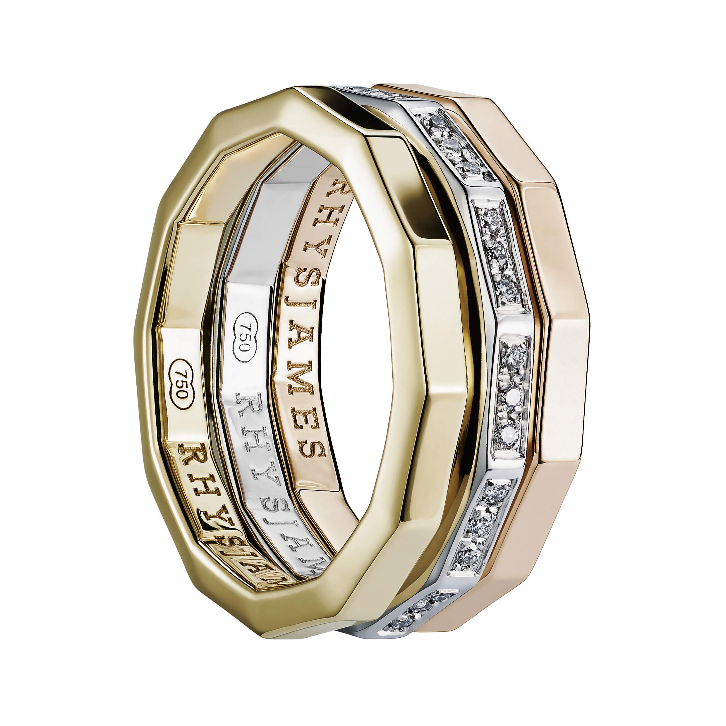 Voyager Rings | Yellow Gold, White Gold & Diamonds, Pink Gold