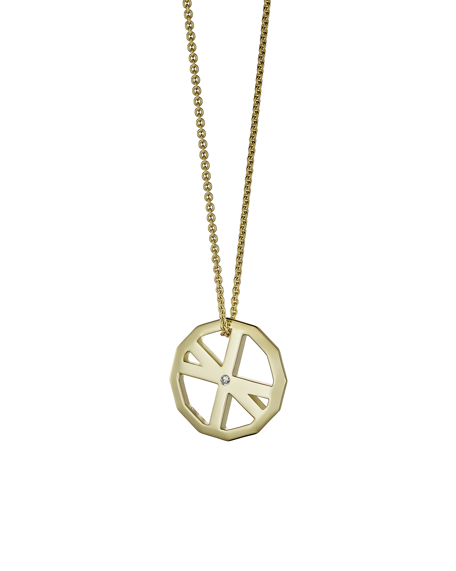 VOYAGER DUO PENDANT / YELLOW GOLD