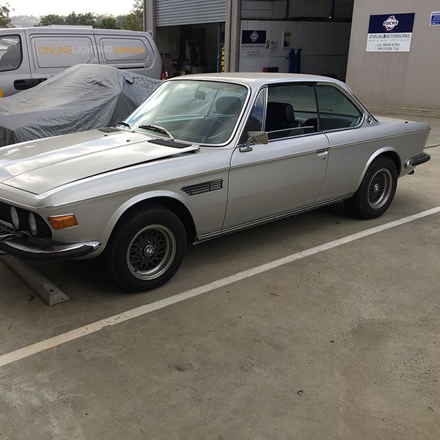 Getting this recently imported #Bmw #e9 #3.0cs back to its former glory @stirling.motorworks
