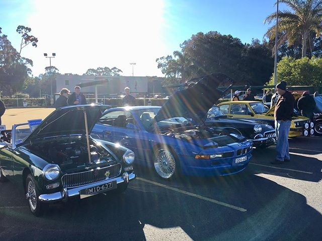 Awesome morning at the Sydney Machines and Macchiato car show. #BMW #840i #E31 #manual