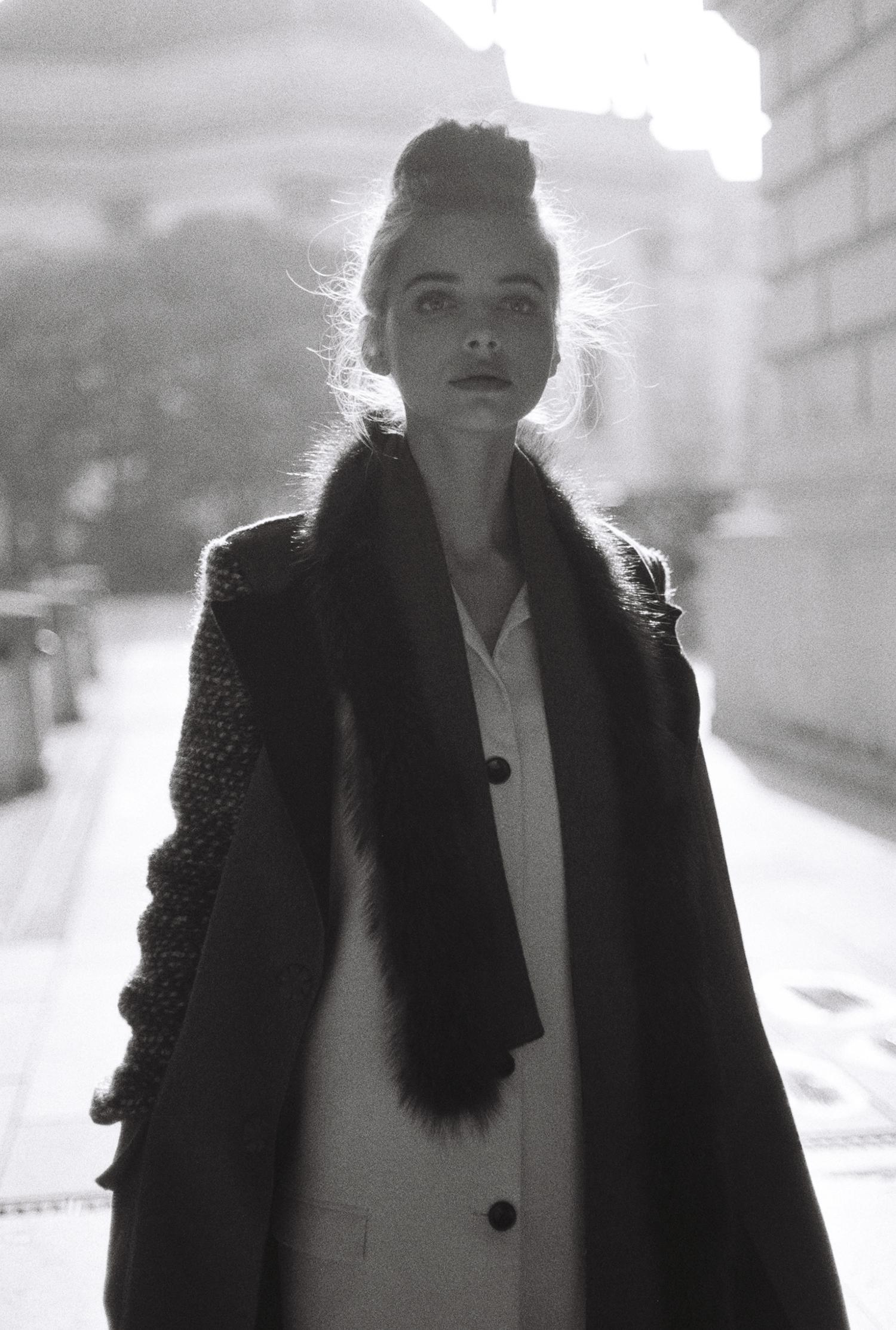 luxury winter fashion campaign