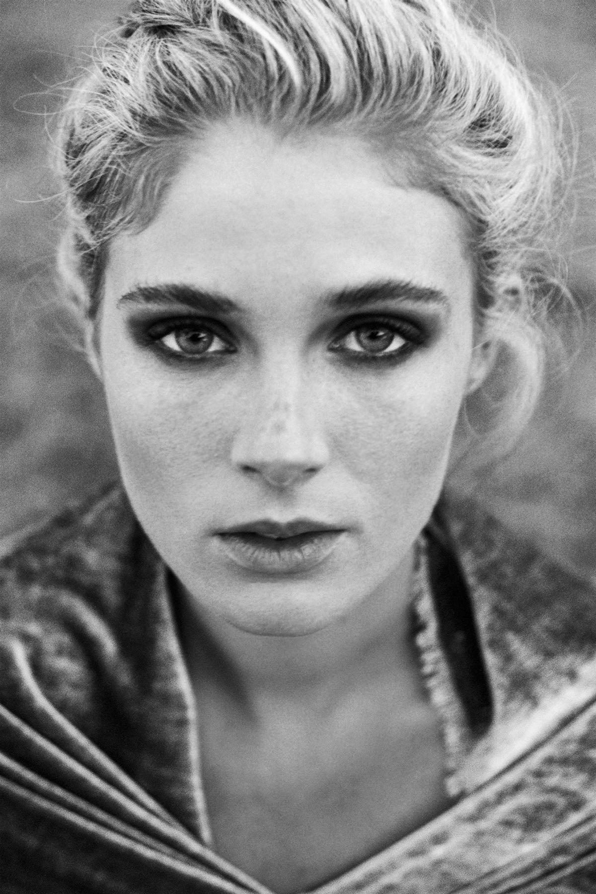 close up model fashion portrait