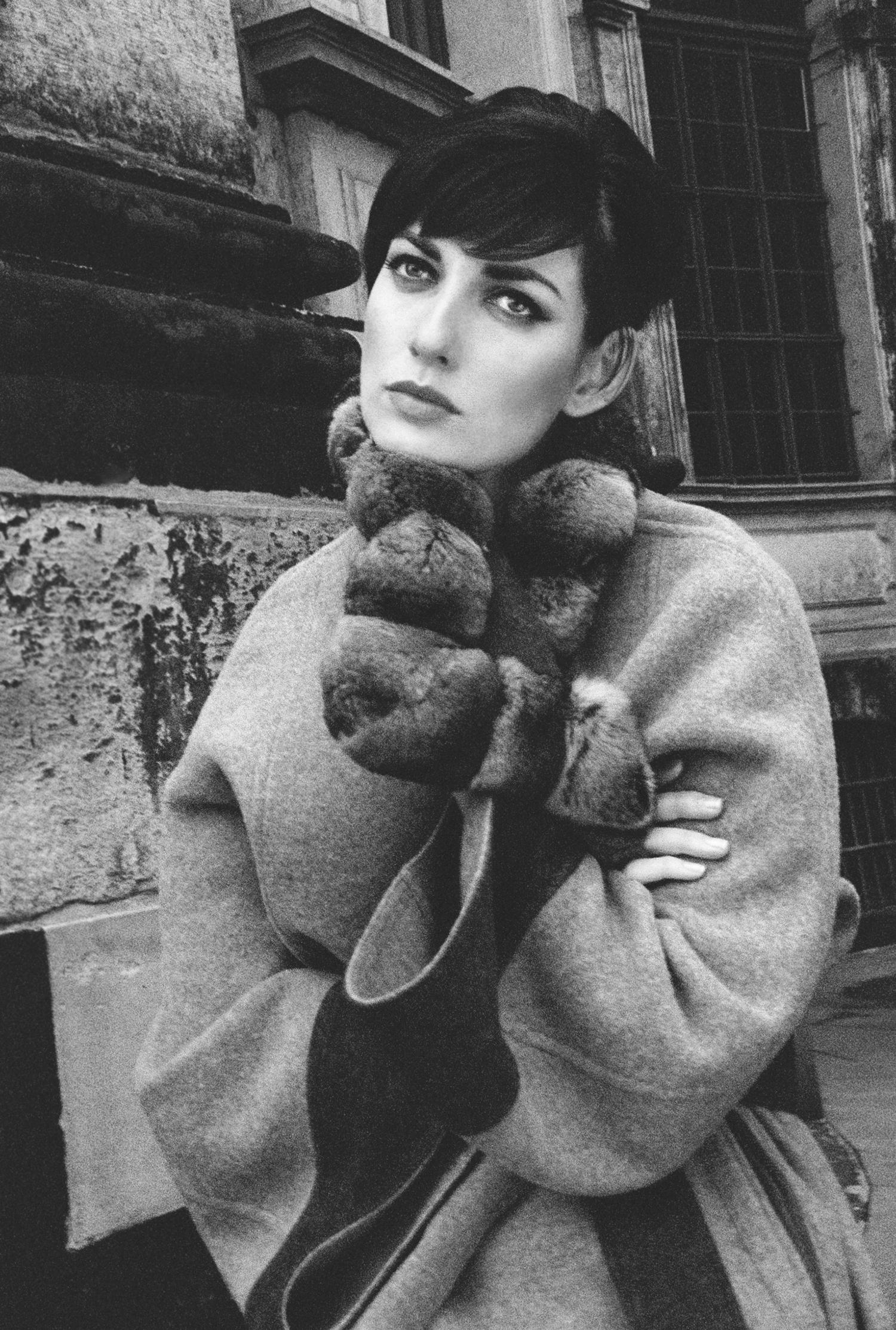 luxury winter coat fashion campaign europe