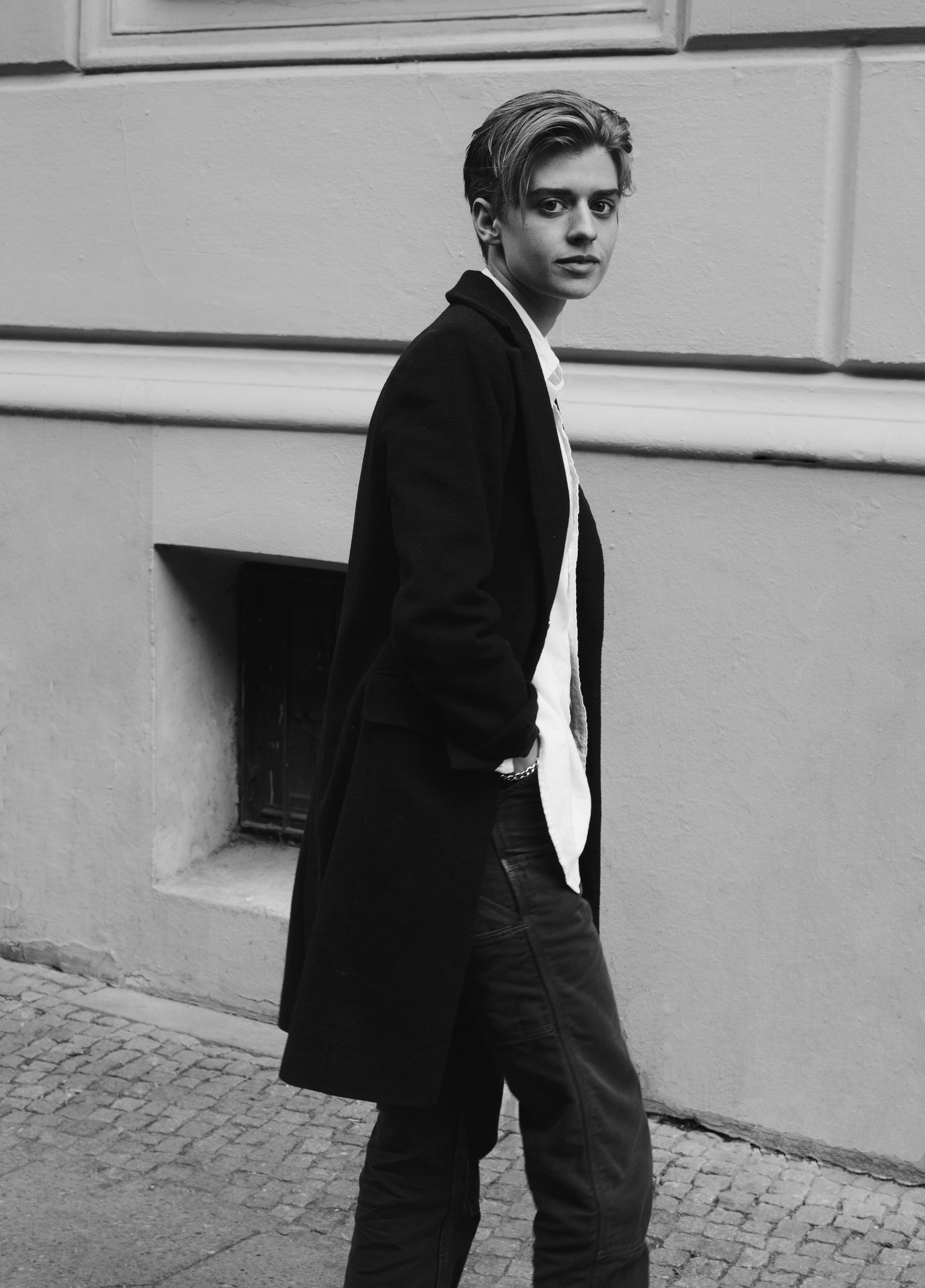 berlin androgynous female fashion model