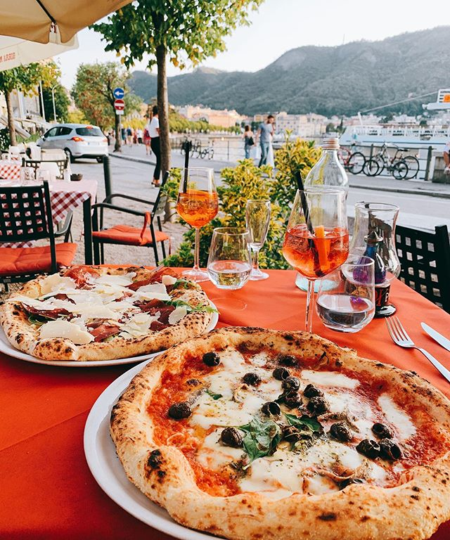 Because life is always about balance... . . Pizza Napoletana and Aperol Spritz that time away. . . . I barely ever eat cheese. Dairy doesn't always sit well with me, health-wise or ethics-wise, and actually I hadn't eaten it for quite a few years! But Jeez, once in a while you've just got to indulge. . . Life is about experiences and doing the best you can, ethically and health wise, the majority of the time. The other part of the time, it's about eating all the delicious things and doing all of the things.