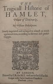The First Quarto version of Hamlet from 1604