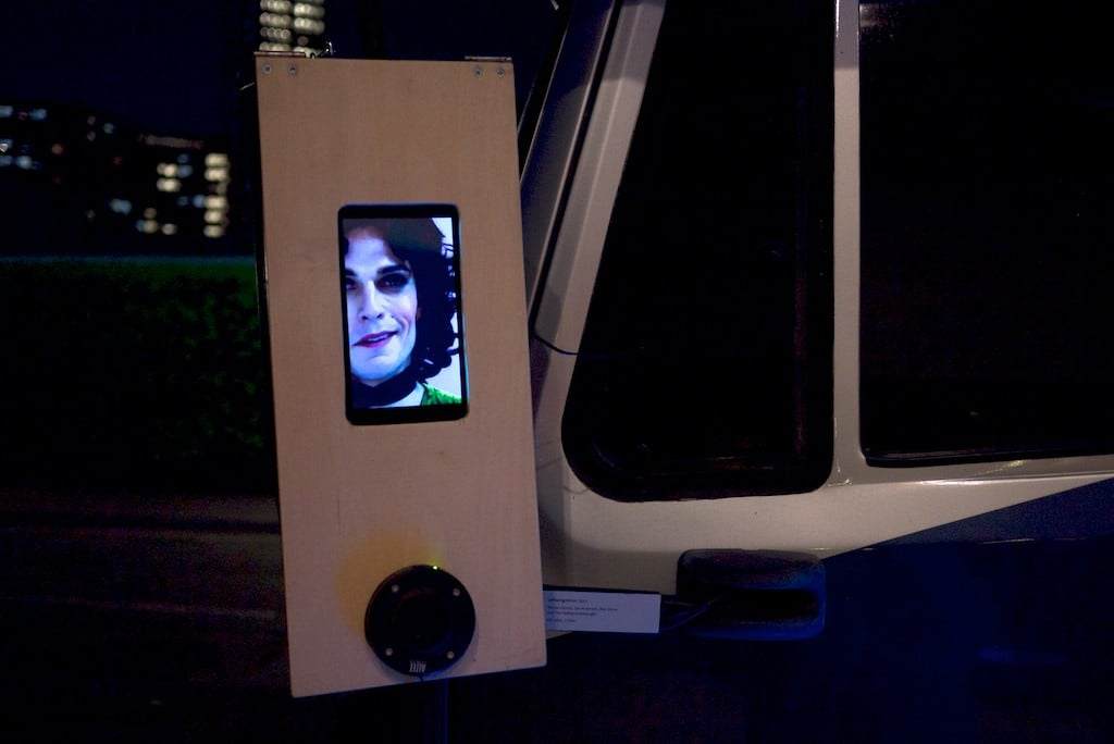 leftwing mirror was an installation for the left wing mirror of a stationary van. Curated by Straybird at Dance Umbrella 2014.