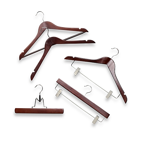 Red Mahogany Wood Hangers