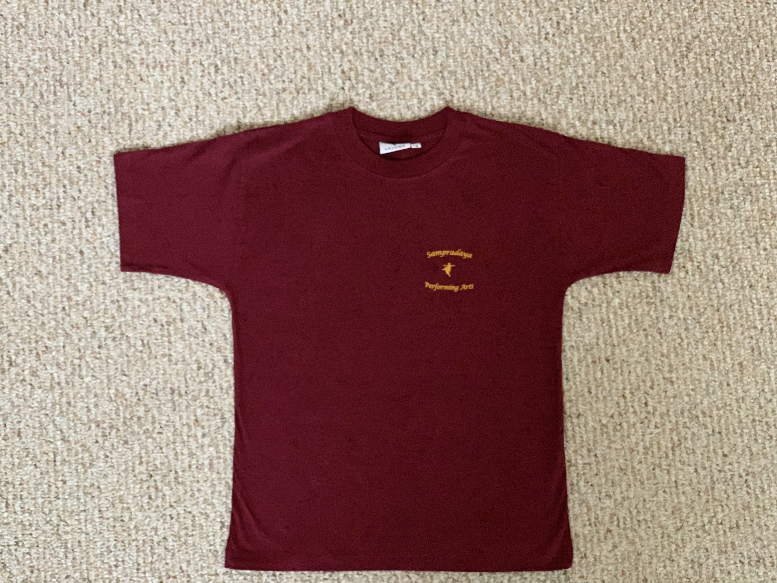 Sampradaya Shirt (Maroon and Orange) — FRONT