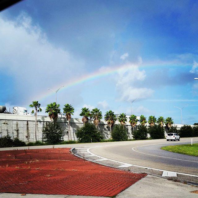 Rainbow on my way home from yoga #cindysfreedomquest #omyoga #rainbow