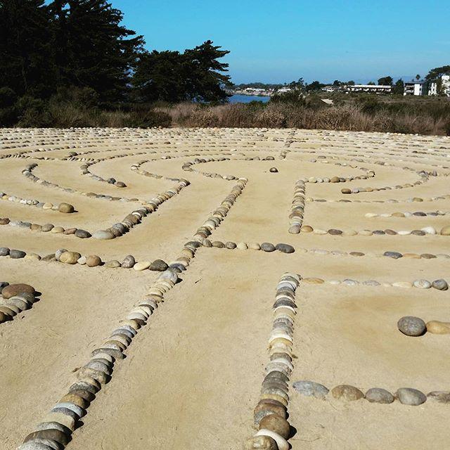 Walked a labyrinth on cliffs at UCSB #cindysfreedomquest #labyrinth