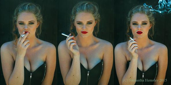 Smokey hot or what. Shooting day with an amazing Samantha Hamsley.