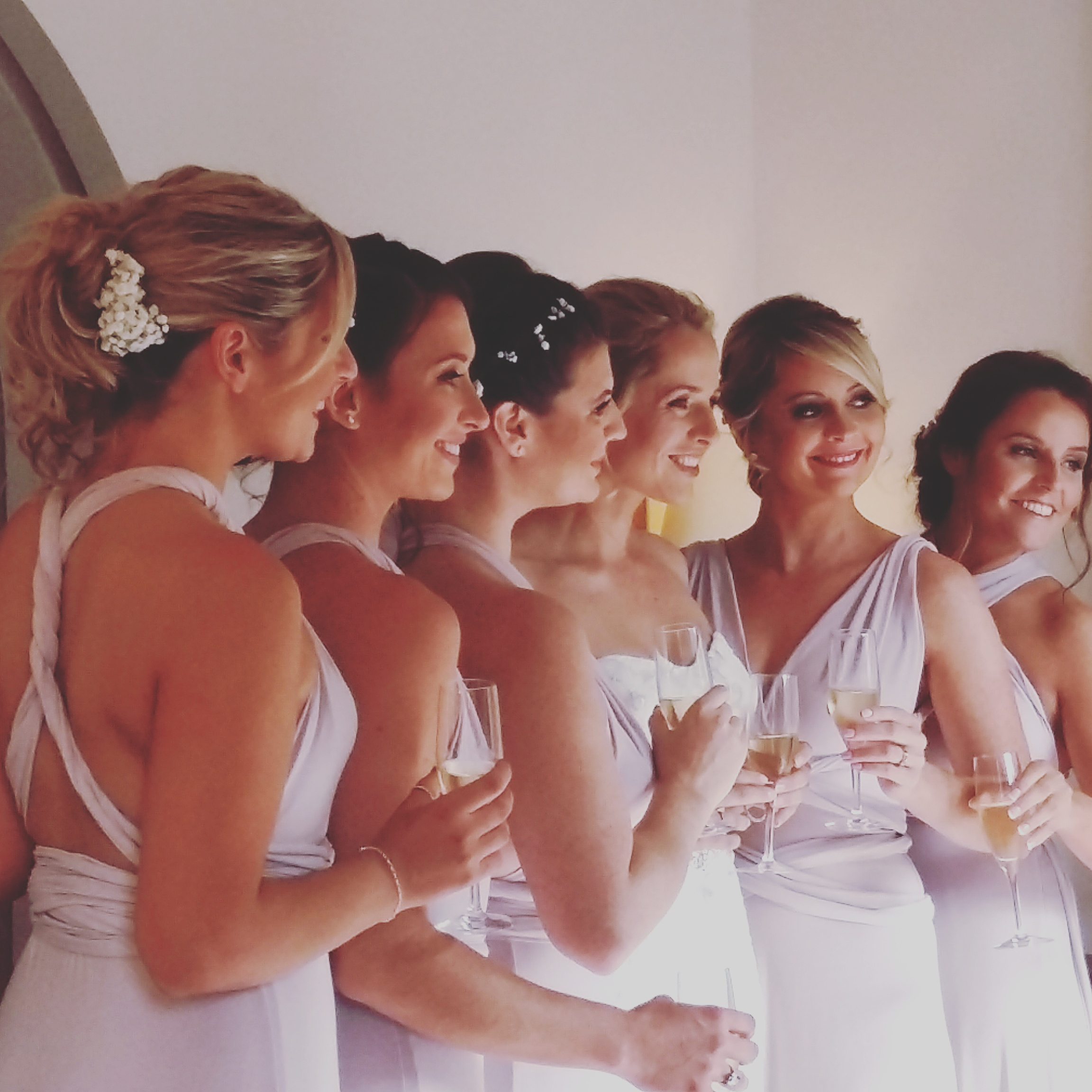Makeup and hair team & time management on a big wedding.