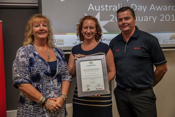 Last year's winner - Dampier Community Association