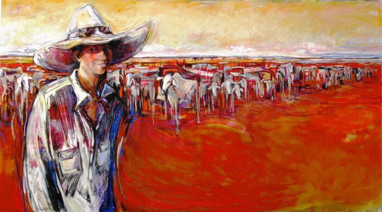 'Jess, Pilbara GIrl' - Finalist in the 2012 Black Swan Portrait Prize