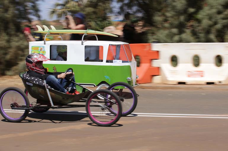 The Dampier Billy Cart Derby is a popular annual community event. Image: Dampier Community Association