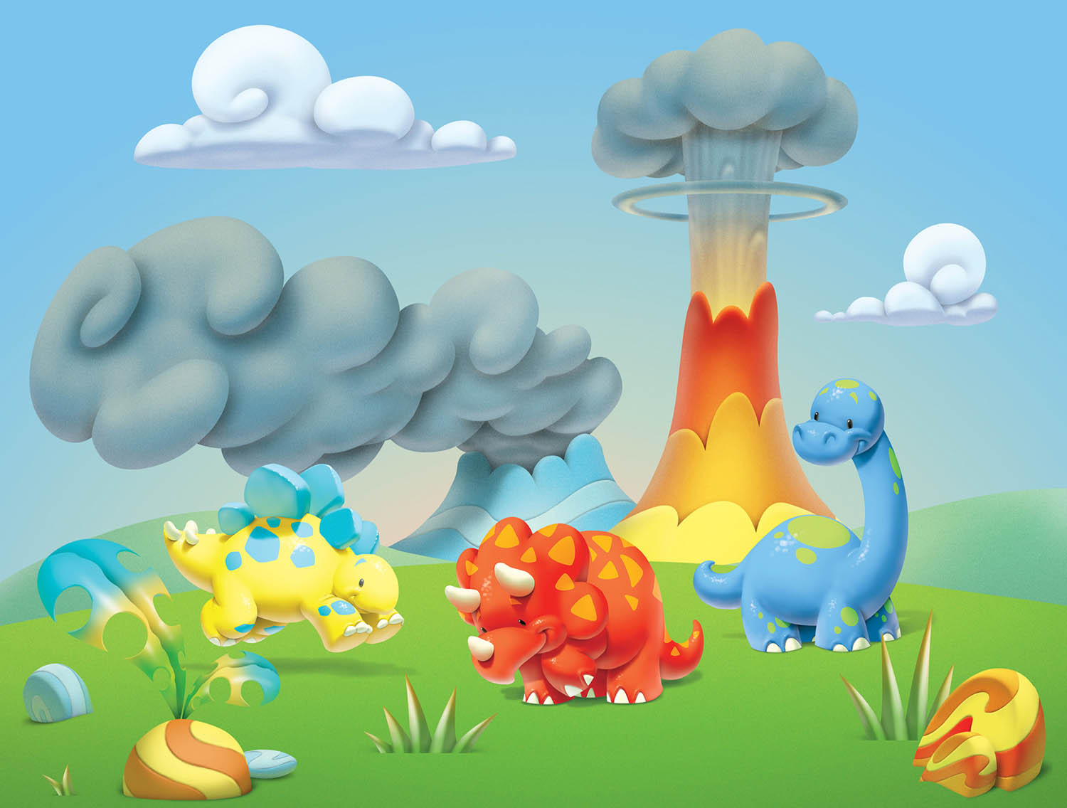 READY Dinosaur clipart and BG.jpg