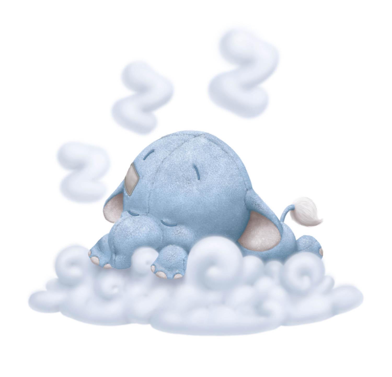 Elephant New baby boy white cloud.jpg