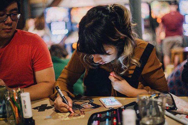 Kalamadoodle is back!!! Tonight, we're taking over the tables at @onewellbrewing for some scribbling and sketching! The party starts at 6:30pm and goes until 8:30pm. It's free to attend so don't miss it! Photo by @elementalkzoo
