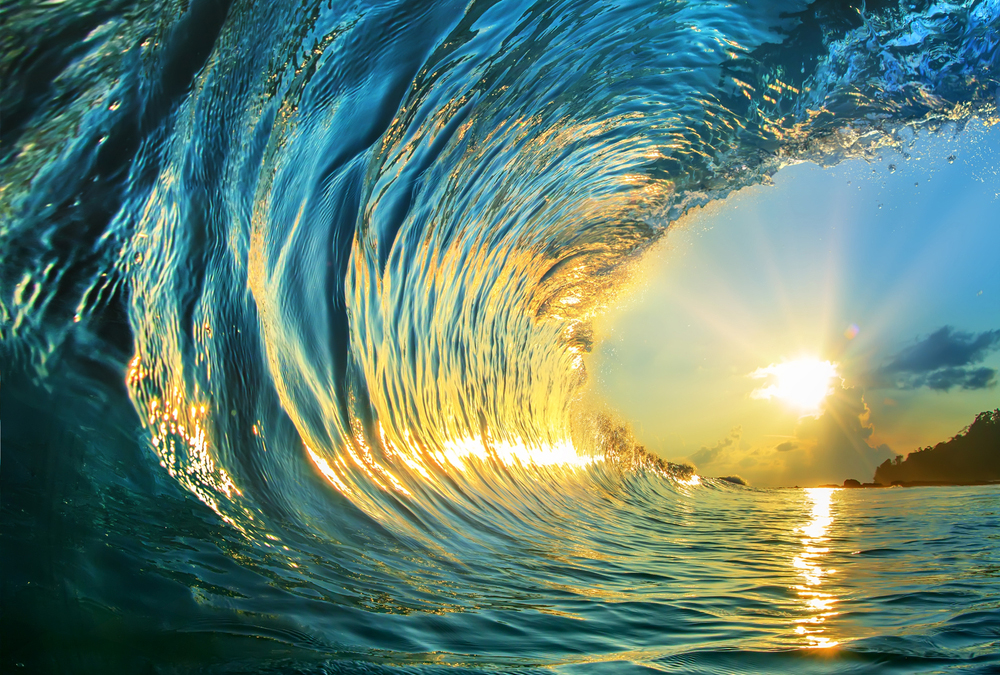 Surfers call it a tidal wave…