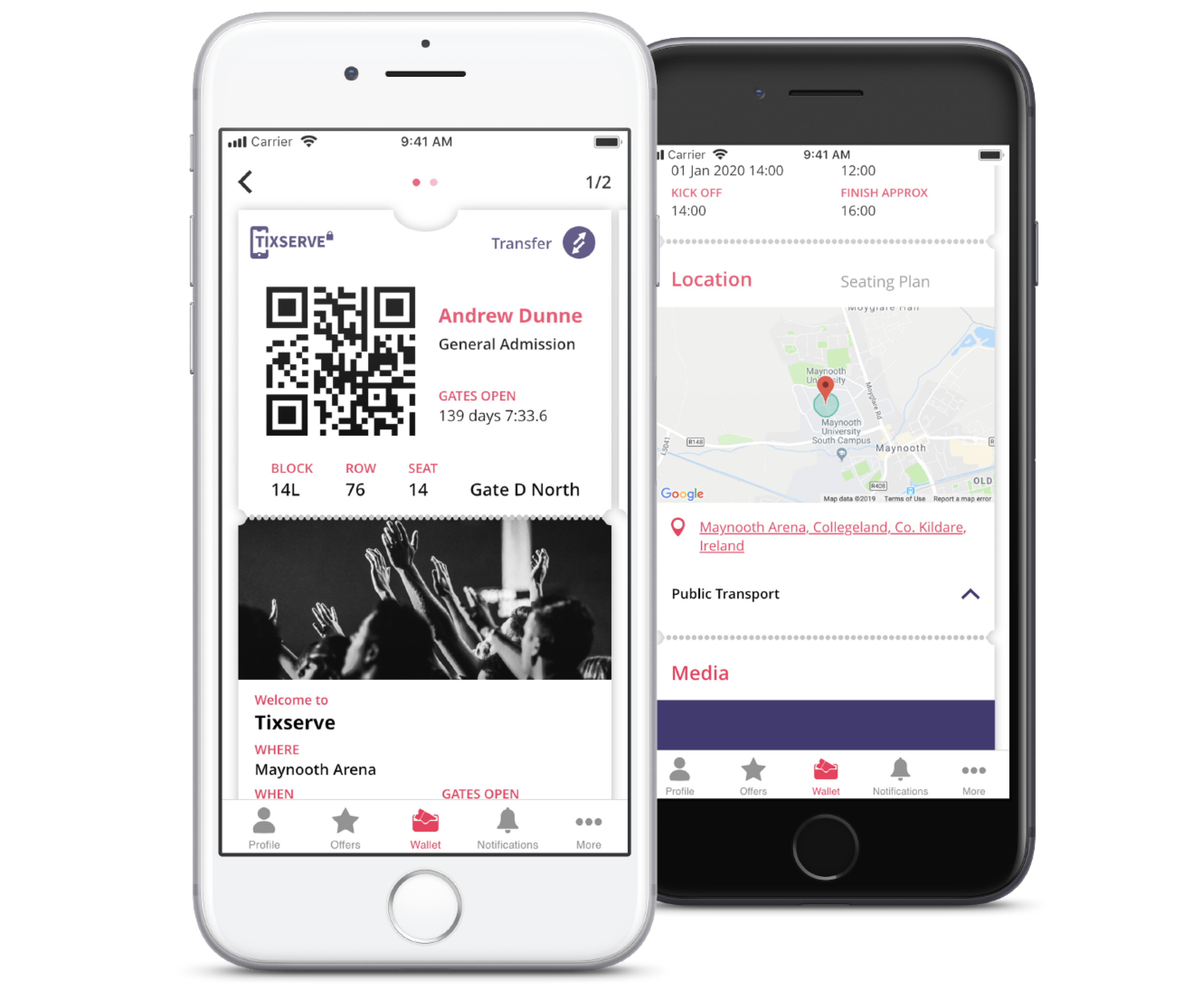 tickets are delivered into a tixserve powered app - Fans benefit from a reliable and safe digital ticketing experience.Build a relationship with fans though event content and push notifications.The app is white label meaning we put our clients brand upfront.The Tixserve generic app can also be used for a trial purpose via batch upload.