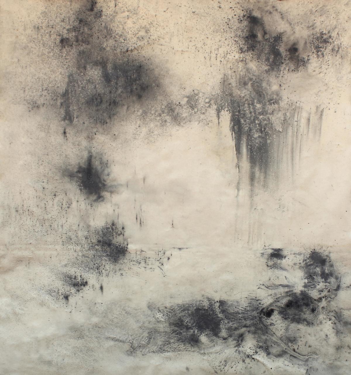 Landwritten  (i) 2015 Graphite on Canvas 160 x 180 cm