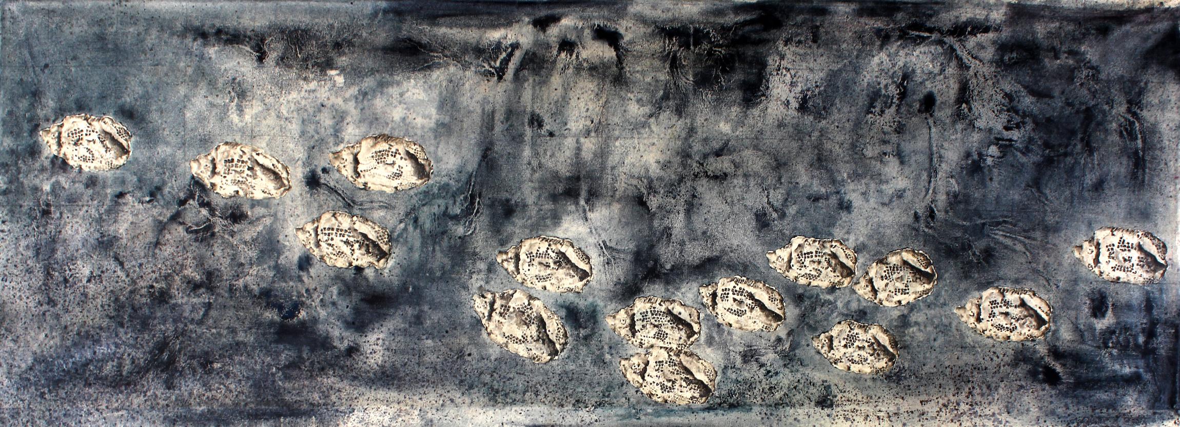 Imaginarium of the Past (Lepidotes)  2015 Oil on Canvas 170 x 60 cm