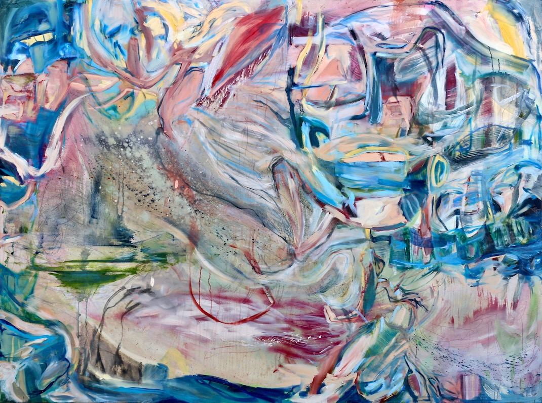 Without Breaking Anything  2018 Oil and Graphite on Canvas 230 x 170 cm