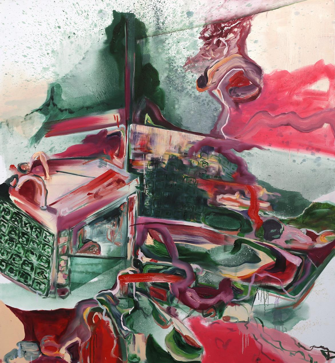 Grandpa's Ghost Ship (iii) 2018 Oil on Canvas 185 x 170 cm