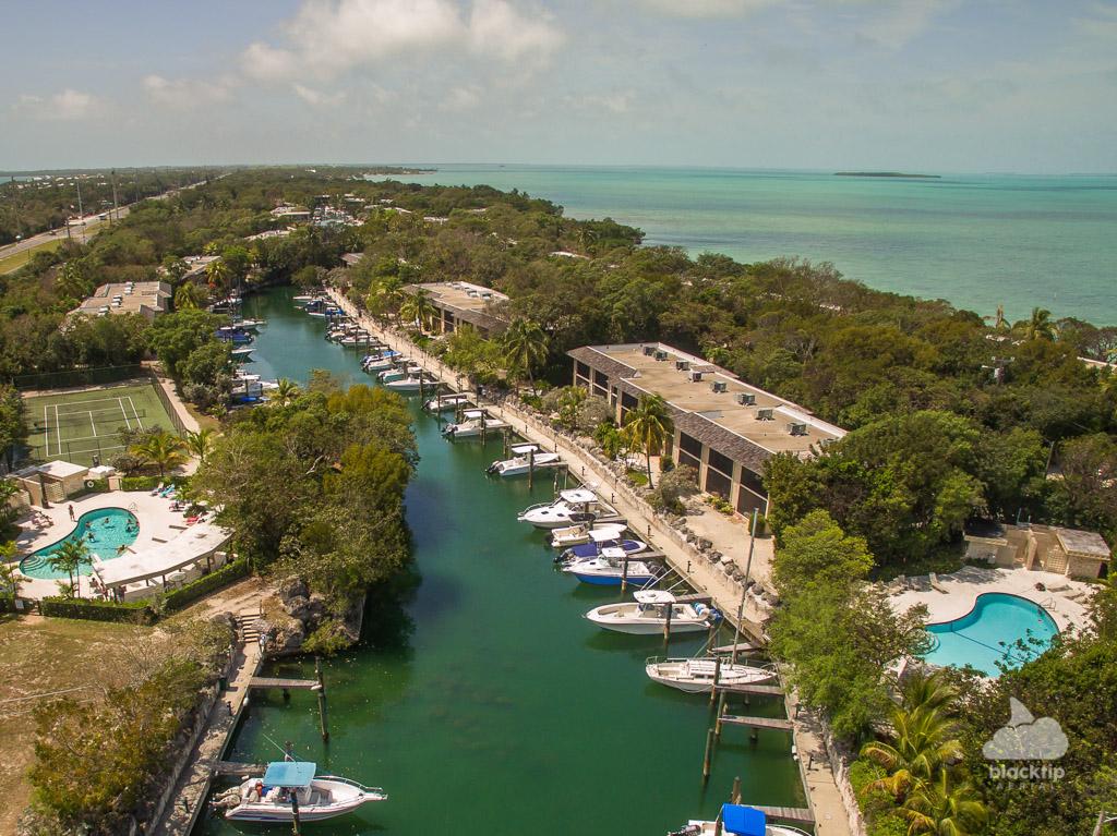 Key Largo Florida Keys condominium drone photography